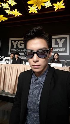 YG Family Power Tour in Singapore Press Conference (140912) | Top with Dara and Winner at the back