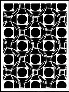 Square Dance Stencil by Terri Stegmiller
