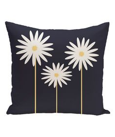 This Blue Daisy May Throw Pillow is perfect! #zulilyfinds