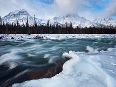 Athabasca River and Mount Fryatt, Jasper N.P., Alberta All Canada Photos / SuperStock
