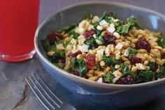 Warm Farro Pilaf with Dried Cranberries | Vegetarian Times