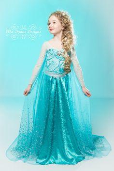 frozen custom elsa costume by elladynae on etsy - Halloween Costumes Of Elsa