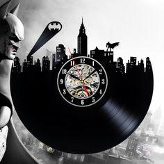 Batman toys  No vinyl record wall clock by ClockoLand on Etsy