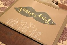 Hand lettered mustache print    #mustache  #nursery  #calligraphy