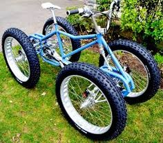 Looks very strong but could use a bigger seat. 4 Wheel Bicycle, Cruiser Bicycle, Motorized Bicycle, Electric Bike Kits, Electric Tricycle, Custom Trikes, Motorised Bike, Drift Trike, Push Bikes