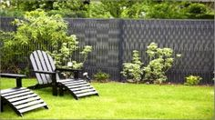 Lames pvc rigides occultation grillage Outdoor Chairs, Outdoor Furniture Sets, Outdoor Decor, Pvc, Fence, The Originals, House, Recherche Google, Latte