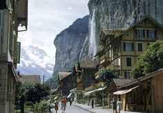 Betchya didn't know that Lord of the Rings author J.R.R. Tolkien modeled the Elvish city of Rivendell after the Lauterbrunnental, a valley in the Swiss Alps!