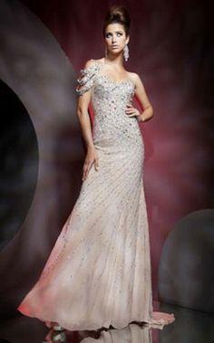 Trompete/Meerjungfrau eine Schulter-Schatz-Chiffon-Abschlussball-Kleid 399,85 €   219,70 €