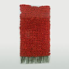 Anya Gallaccio. Preserve Beauty (New York), 2003. 500 Red Gerbera, glass and fittings,  247 X 130.8 X .6 cm. © The Artist. Courtesy...
