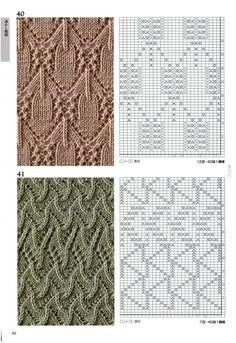 260 Knitting Pattern Book by Hitomi Shida 2016 — Yandex.Disk 260 Knitting Pattern Book by Hitomi Shi Lace Knitting Patterns, Knitting Stiches, Cable Knitting, Knitting Charts, Lace Patterns, Knitting Designs, Stitch Patterns, Crochet Chart, Pattern Books