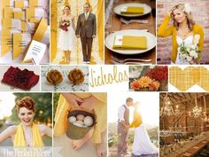 Fall Wedding Palette: Fall in Love! A Palette of Mustard, Cranberry, Latte + White (yellow, gold)