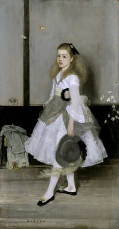 James Abbott McNeill Whistler (American 1834–1903) [Impressionism, Tonalism] Harmony in Grey and Green: Miss Cicely Alexander, 1872‑4.