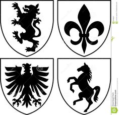 Explore Medieval Symbols, Horse Logo, and more! Heraldic Crests/Coat Of Arms . Medieval Symbols, Medieval Horse, Flag Template, Knight Tattoo, Knight Shield, Shield Icon, Family Shield, Horse Costumes, Horse Logo