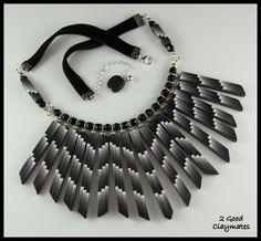 2 Good Claymates: Bargello Fringe Necklace