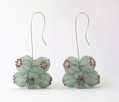 Earrings made of threads from silver, high-grade steel, and nylon...oh i covet.   ~ by Dorit Schubert   http://www.dorit-schubert.de/