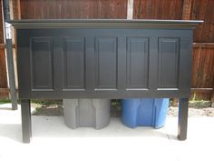 5 panel old door headboard painted satin onyx black by Vintage Headboards | Flickr - Photo Sharing!