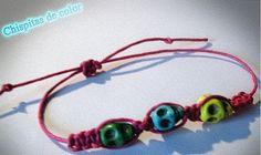 """Modelo """"shambala calaveras"""" por sólo 2,5 €. Posibilidad de más colores de calaveras y de cordón."""