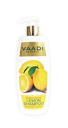 Lemon with Tea Tree Extract Shampoo - ★ Dandruff Defense Shampoo - ★ ALL Natural Shampoo - ★ Paraben Free - ★ Sulfate Free - ★ Scalp Therapy - ★ Moisture Therapy - ★ Suitable for All Hair Types - 11.8 Ounces - Vaadi Herbals - http://essential-organic.com/lemon-with-tea-tree-extract-shampoo-%e2%98%85-dandruff-defense-shampoo-%e2%98%85-all-natural-shampoo-%e2%98%85-paraben-free-%e2%98%85-sulfate-free-%e2%98%85-scalp-therapy-%e2%98%85-moistur/