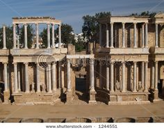 Roman ruins in Merida, Spain