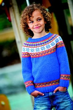 Beautiful childrens sweater in Sandnes Alpaca  Sizes: 1-12 years  Pattern and yarn from www.skdyarns.net  (1) 2 (4) 6 (8) 10 (12) years