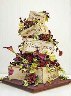 659b2ba2d43 35 Best Wine Themed Cake Ideas images
