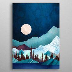 Moon Bay Mini Art Print by spacefrogdesigns