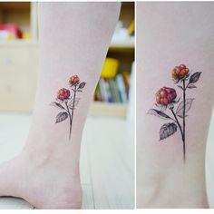 "7,708 Likes, 6 Comments - Tattooist Banul (@tattooist_banul) on Instagram: "": Cloudberry  . . #tattooistbanul #tattoo #tattooing #raspberry #raspberrytattoo #cloudberry…"""