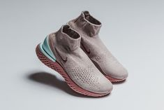 Nike Rise React Sock Sneaker Dusky Rust Pink Thunder Grey Fresh Shoes 448752798