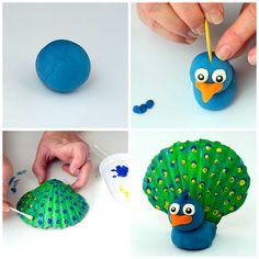seashell peacock craft