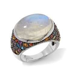 """Colleen Lopez """"Glam Me To The Moon"""" Multigem Ring"""
