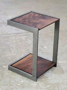 Trendy Ideas wood and metal furniture diy decor Welded Furniture, Industrial Design Furniture, Steel Furniture, Industrial Interiors, Diy Furniture, Furniture Design, Industrial Decorating, Furniture Projects, Furniture Plans