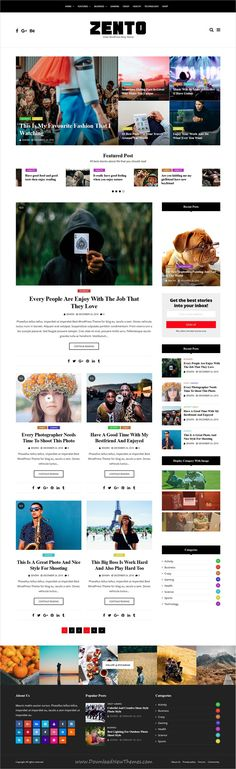 Zento is clean and modern design responsive #WordPress theme for #news #blog and #magazine website with 12 different homepage layouts download now..