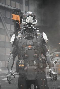 Bounty hunter  Futuristic, Source: cosmicwolfstorm