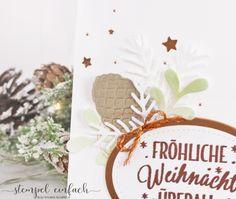 stempel einfach -  Weihnachtskarte mit dem Set Drauf und dran... von Stampin Up