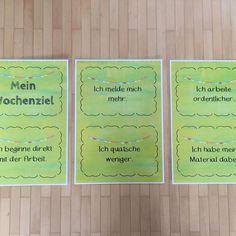 Ich habe mir nun auch Schilder für Wochenziele erstellt. Wie genau arbeitet ihr damit? #lehreralltag #lehrerleben #grundschulliebe #grundschulideen #grundschule #grundschullehrerin #lehrerleben #lehreralltag #lehrerin #dritteklasse #classroommanagement