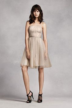 Dreaming of your bridal party wearing Vera Wang bridesmaid dresses on the big day? Shop at David's Bridal to find affordable Vera Wang bridesmaid dresses! Vera Wang Bridesmaid Dresses, Bridesmaid Dress Colors, Bridesmaids, Chiffon Dress, Lace Dress, Strapless Dress, Prom Dress, New Look Clothes, Event Dresses