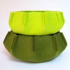 urchin wool felt nesting bowls • herbst handmade