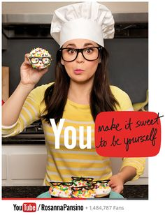 Rosanna Pansino, Queen of Nerdy Nummies youtube.com/RosannaPansino