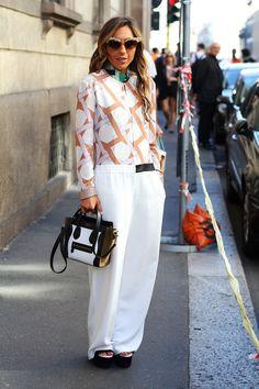 #Fashion-ivabellini #Milan Fashion Week streetstyle milano fashion week