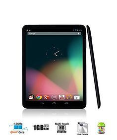Arch™ Metallic Mini-Studio QUAD CORE 8 inch NEW Android 4.4 KitKat OS HD 1024*768 resolution 4:3 10-Point Capacitive Touchscreen Aluminium Alloy Housing Tablet PC QUARD CORE CPU 1GB DDR3 RAM 8GB Storage, DUAL CAMERA, Front/Rear Camera Supports G-Sensor, Google Play, Skype, Netflix, 3D Games, 1080p HDMI micro-SD card 3G WIFI USB METALLIC BLACK