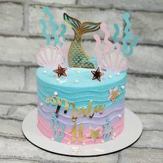 Baby Boy Birthday Cake, Mermaid Birthday Cakes, Mermaid Cakes, Birthday Party Decorations, Birthday Parties, Princess Party, Birthdays, Mermaid Birthday, Birthday Cakes