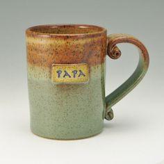 PAPA Mug Coffee Mug Father's Day Mug Honey by TwistedRiverClay, $24.00