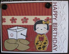 "Birthday card made using Unity ""You're My Bestie"" set and Lawn Fawn ""Good Fortune"" set. Embossed with Cuttlebug."