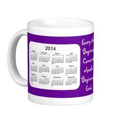 New Beginnings 2 Year 2014-2015 Calendar Mug Design by Janz