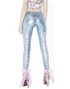 Sugar High Shimmer Lace-Up Leggings