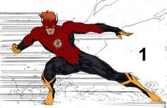 Kid Flash, Flash Art, Dc Comics Art, Marvel Comics, Batman And Superman, Spiderman, Dc Speedsters, Comic Art, Comic Books