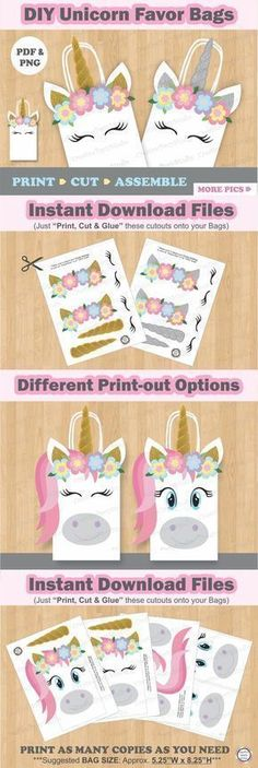 Unicorn Mini Playing Cards Pack of 8 Pieces Party Bag Fillers Favours