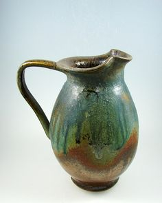 Handmade Pottery Dinnerware | Handcrafted stoneware brown glazed pitcher