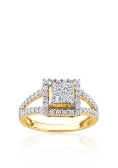 Belk  Co. Yellow Gold Diamond Engagement Ring in 14k Yellow Goldbr