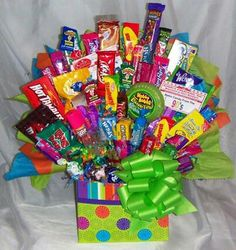 Candy gift basket